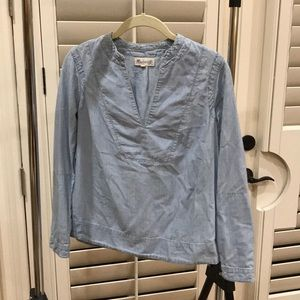 Madewell chambray blouse size small